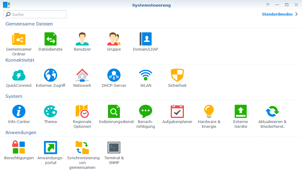 Synology-Systemsteuerung